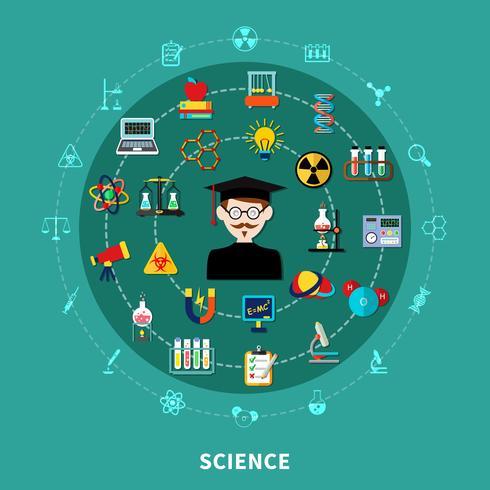 Diagramma di scienza circolare vettore