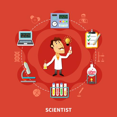 Chemical Scientist Inventor vector