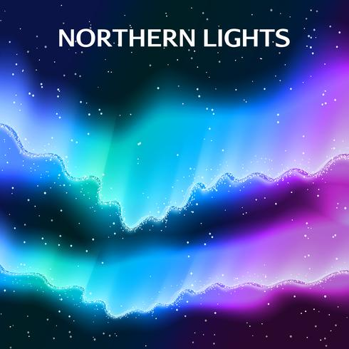 Starry Northern Lights Background