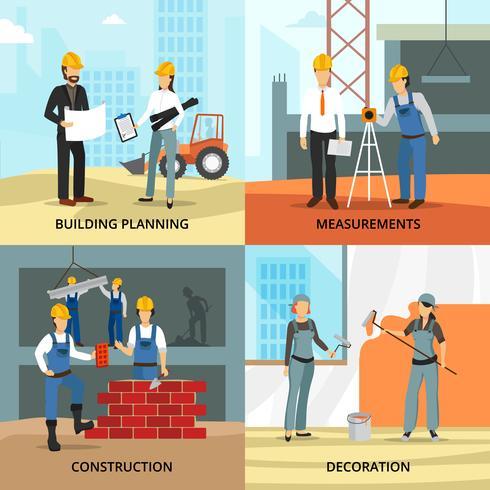 Building Concept Icons Set vector