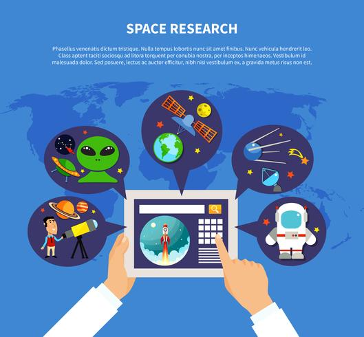 rymdforskning koncept vektor