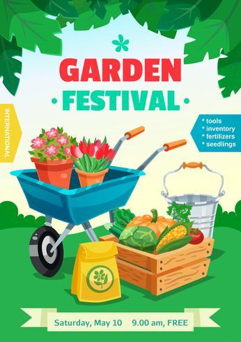 trädgårdsfestivalen affisch vektor