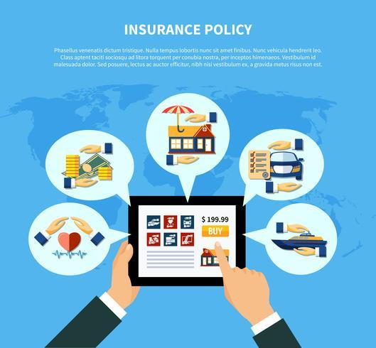 Concepto de servicios de póliza de seguro vector