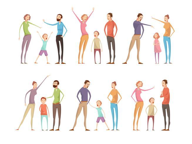 Set di caratteri di argomenti di famiglia vettore