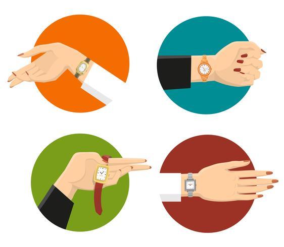 Concepto de diseño de relojes de pulsera de las mujeres