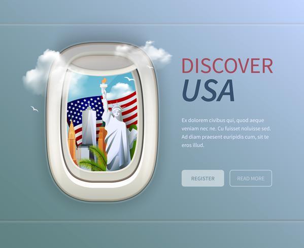 USA Porthole Background vector