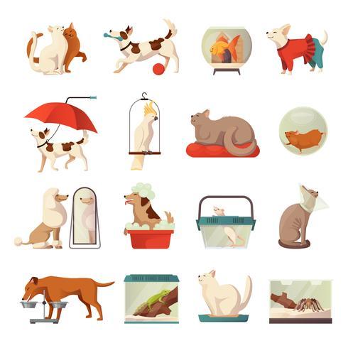 Pet Shop Icons Set vector