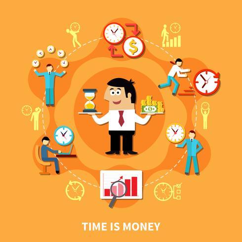 Il tempo è denaro Composizione vettore