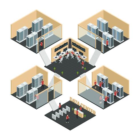 Data Center Isometrisk Sammansättning