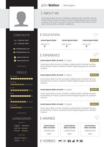 CV ontwerp illustratie vector