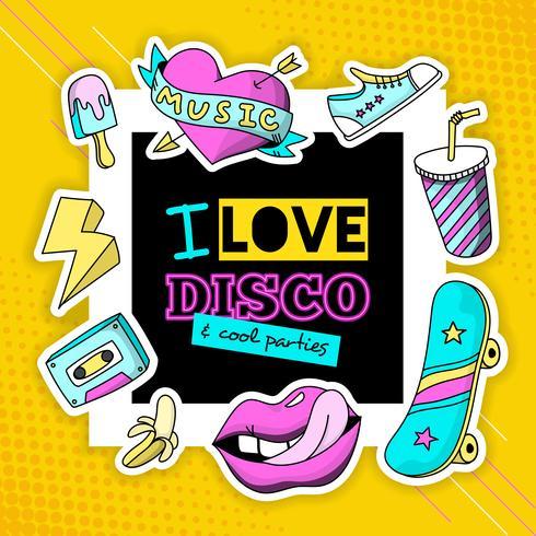 Patch de mode affiche de composition disco cool