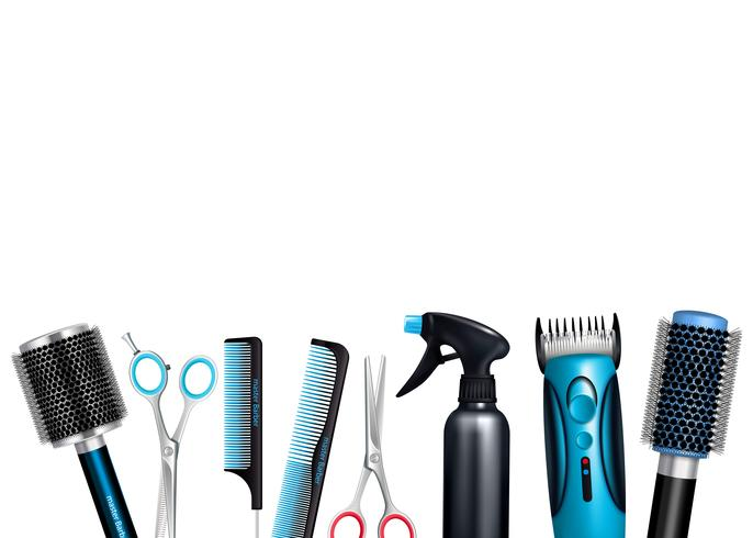 Hairdresser Tools Background - Download Free Vector Art ...