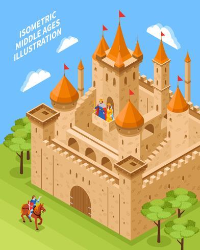 Composición del castillo real vector