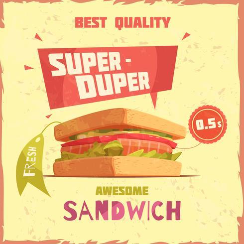 """Affiche promotionnelle """"Super Duper Sandwich"""""""