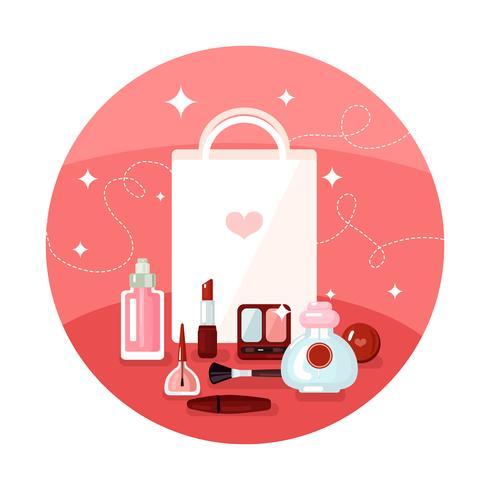 Round Cosmetics Concept vector