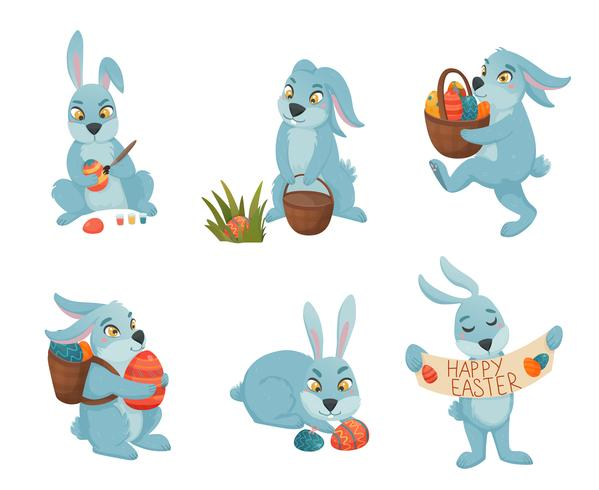 Easter Bunnies Cartoon Collection