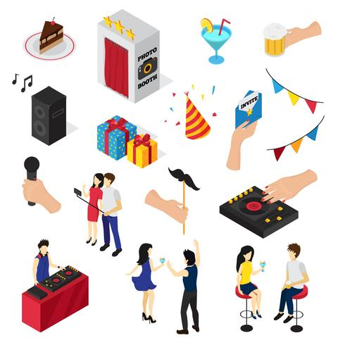 Party Isometric Icons Collection