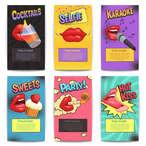 Lips Party Mini-posters