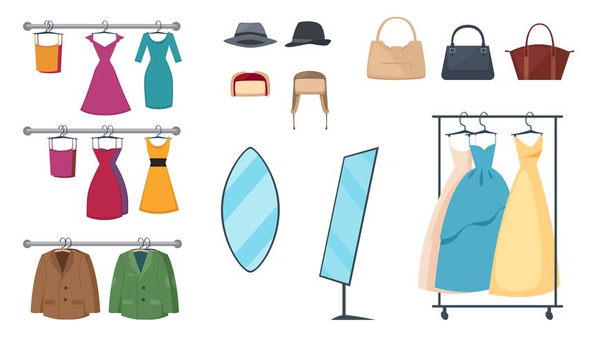 Clothing Store Icon Set vector