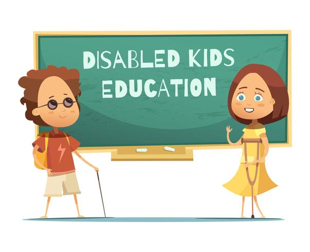 Education Of Disabled Kids Illustration vector