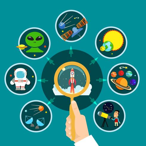 Illustrazione del concetto di spazio