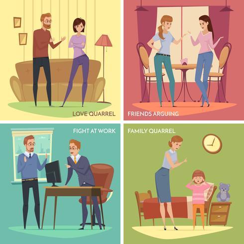 Colorful Quarrel Concept vector