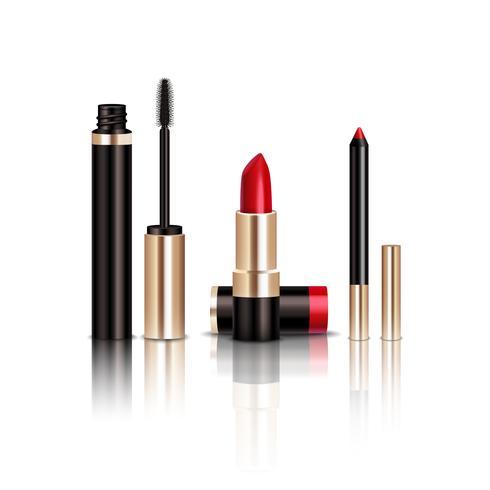 makeup-objekt som är inställda