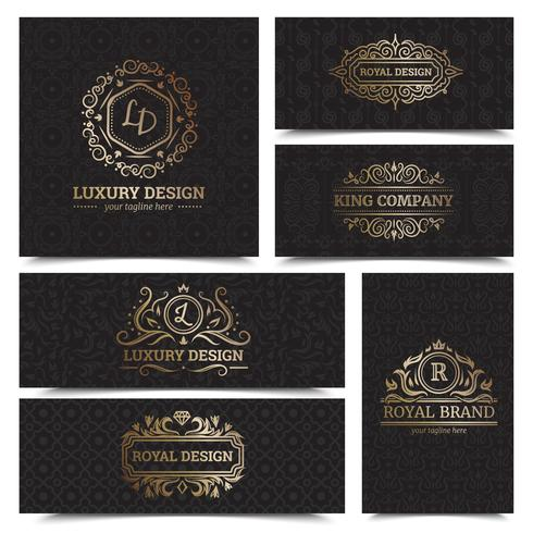 Ensemble de conception d'étiquettes de produits de luxe