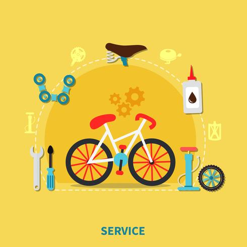 cykel service koncept illustration