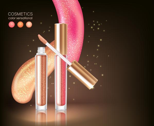 Glanzende lippenstift Cosmetische Concept vector