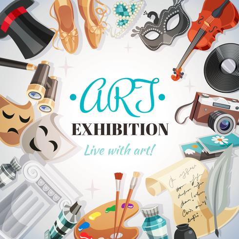 Kunsttentoonstelling Illustratie