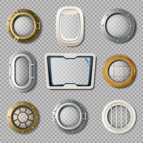 Portholes Of Various Realistic Set