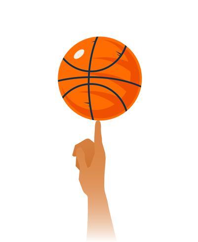 Basketball-Fähigkeiten-Nahaufnahme-Illustration