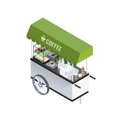 Isometrische Komposition für Kaffee
