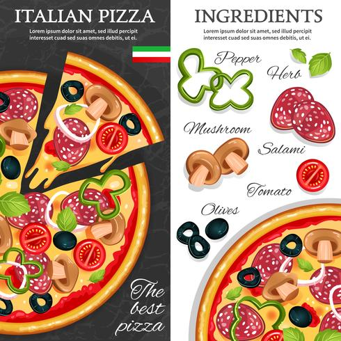 Pizza Vertical Banners vector