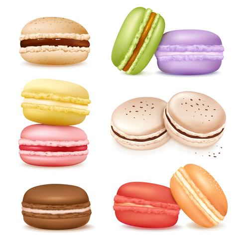 Isolated Macaroon Goods Set vector