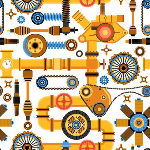 Maskiner sömlösa mönster vektor