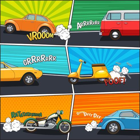 Trasporto di telai comici vettore