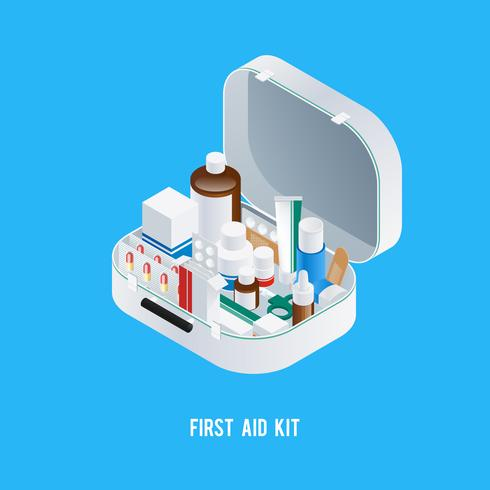 First Aid Kit Background
