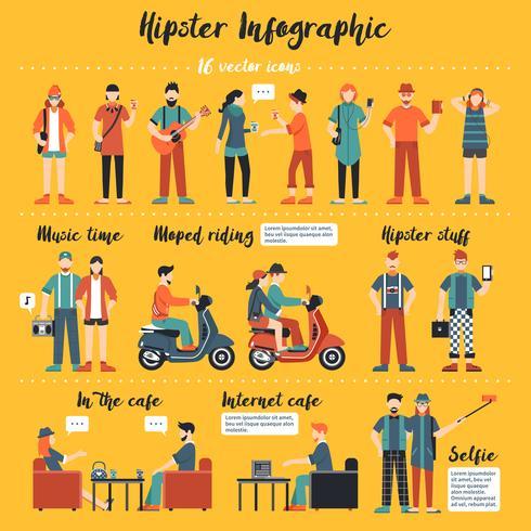 hipster infographics illustration vektor
