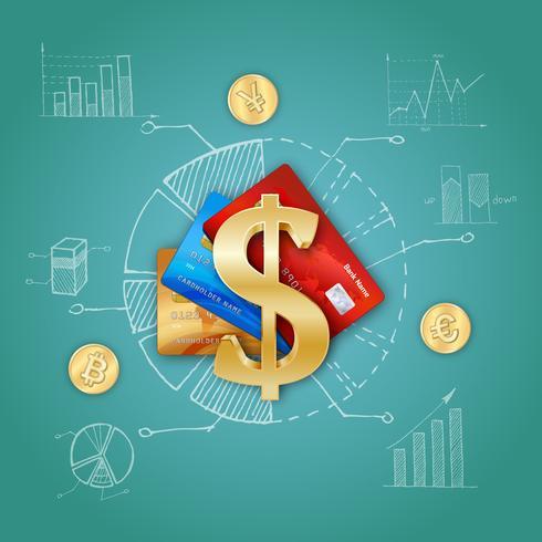 Modelo financeiro realista vetor