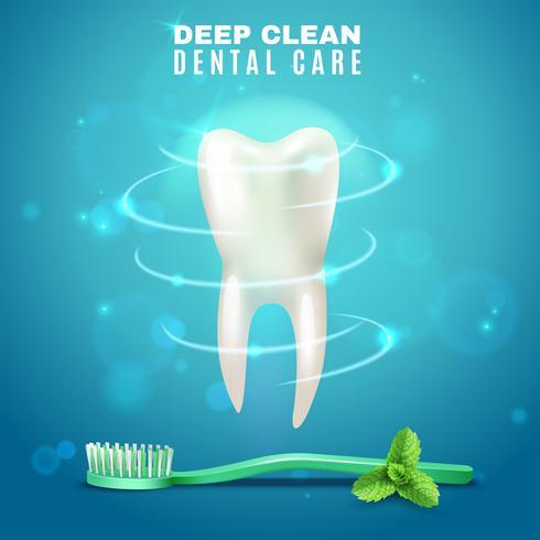 Tiefes Reinigungs-Zahnpflege-Hintergrund-Plakat