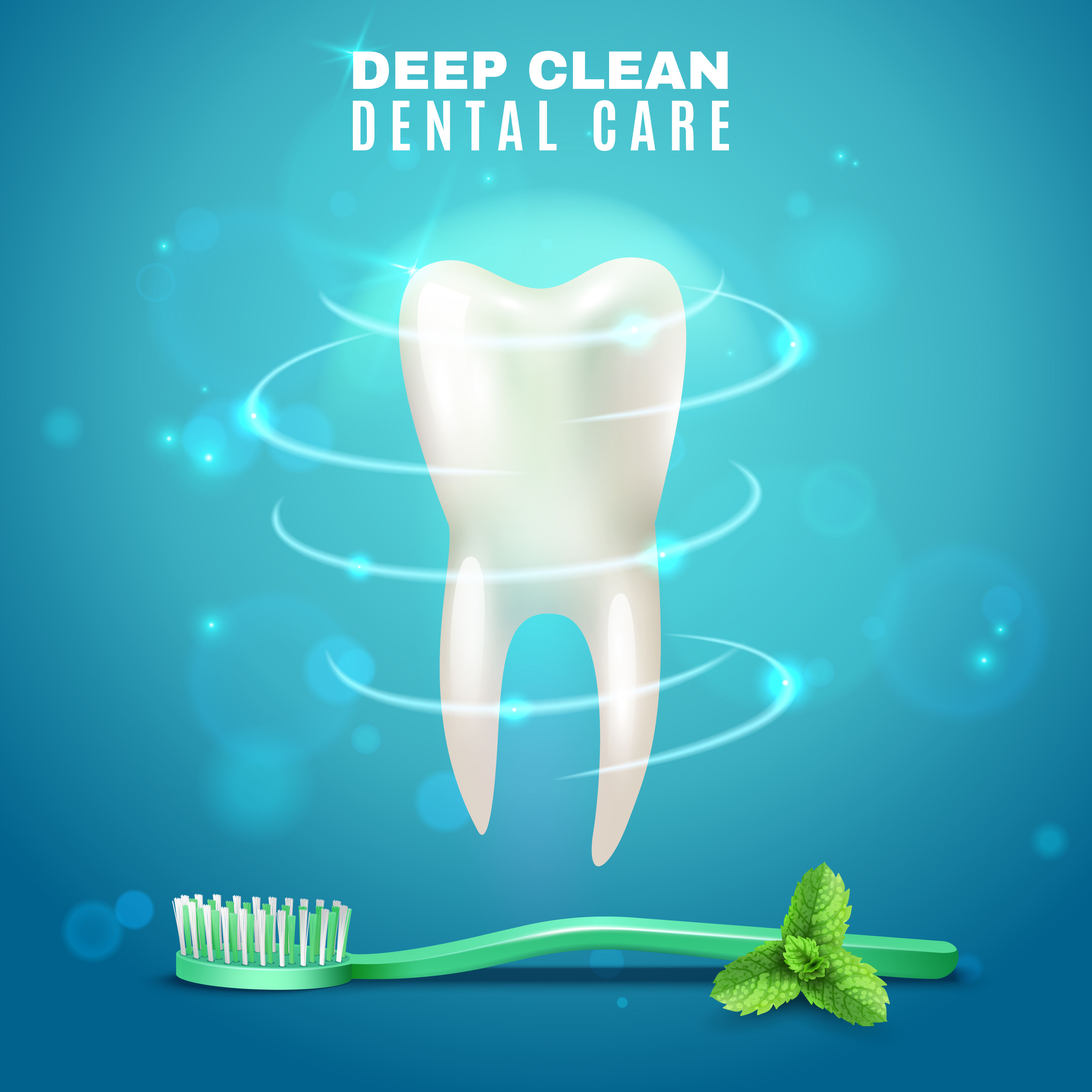 Deep Cleaning Dental Care Background Poster Download