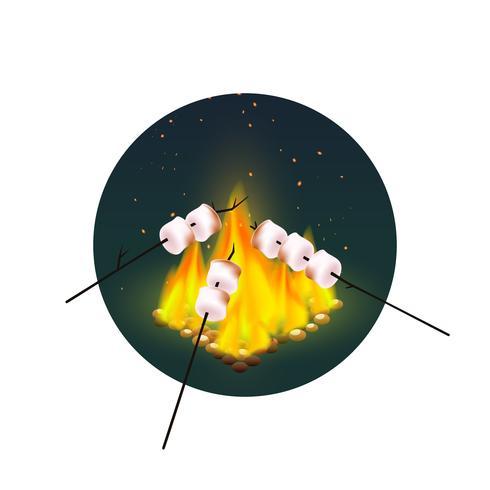 Torrefazione di Marshmallows sul falò