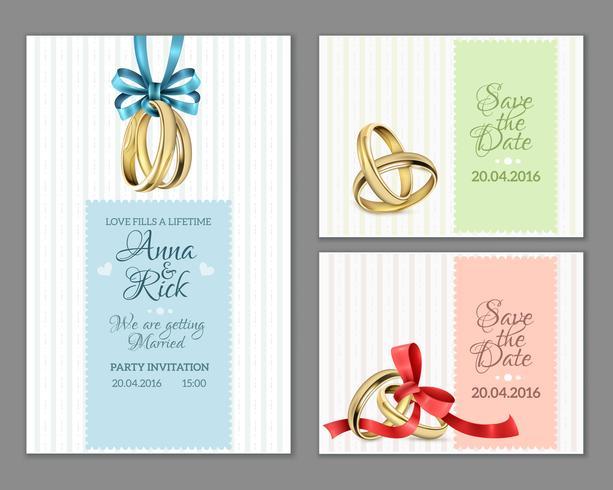 Celebre invitaciones de boda vector