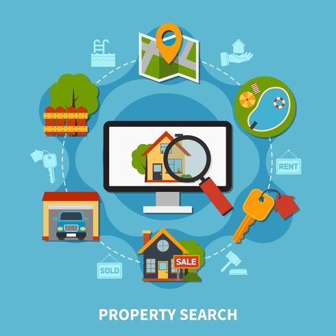 Concepto inmobiliario vector