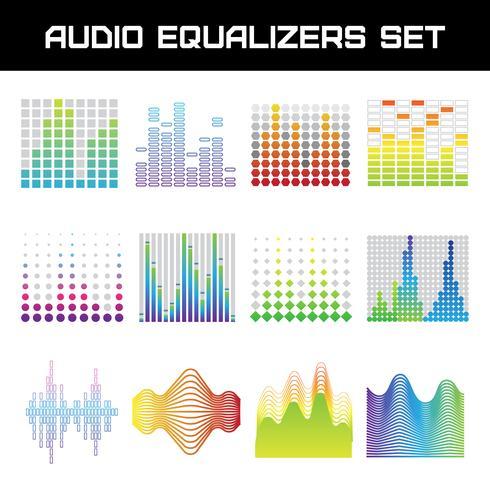 Set de ecualizador de audio vector