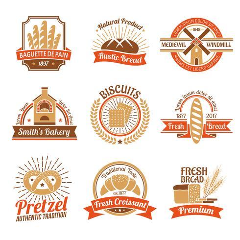 Set emblema logo panificio