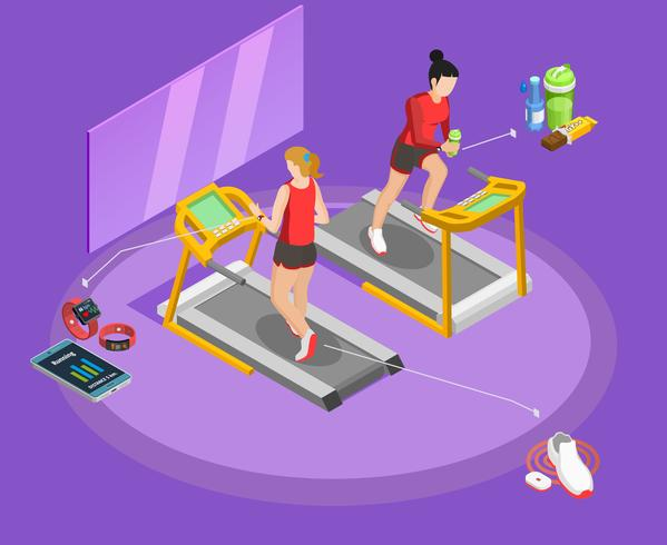 Healthy Lifestyle Isometric Template