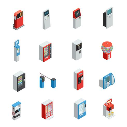Vending Machines Icons Set